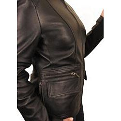 Knoles & Carter Womens Bellow pocket Leather Jacket