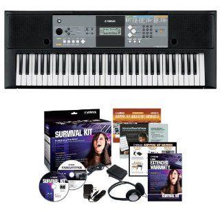 Yamaha PSR E233 61 key Portable Keyboard Outfit: Musical