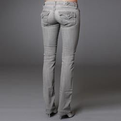 Laguna Beach Womens Aliso Beach Grey Straight Leg Jeans