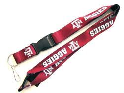 Texas A&M Aggies Reversible Clip Lanyard Keychain ID Ticket Holder
