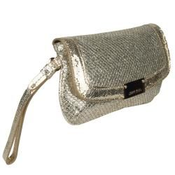 Jimmy Choo Zeta Sparkle Leather Clutch