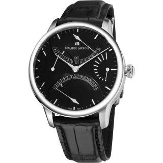 Maurice Lacroix Mens Master Piece Black Dial Retrograde Watch