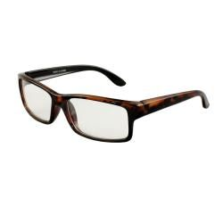 Unisex 470 Brown Leopard Rectangle Frame Fashion Sunglasses with Clear