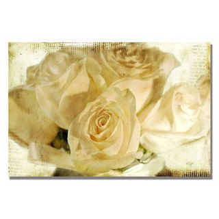 Lois Bryan White Roses Canvas Art