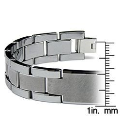 Mens Tungsten Carbide ID Watch Link Bracelet (14 mm)