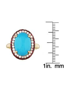 Encore by Le Vian 14k Gold Turquoise and Ruby Ring