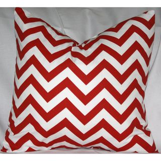 Taylor Marie Modern Lipstick Red and White Zig Zag Chevron Throw