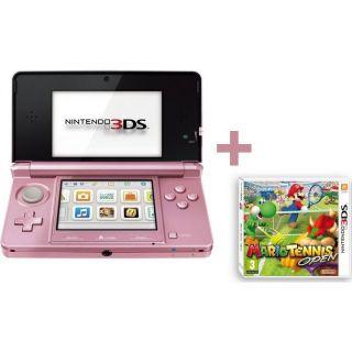 NINTENDO 3DS ROSE CORAIL + MARIO TENNIS OPEN   Achat / Vente DS