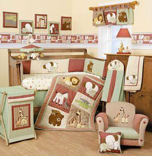 Lambs & Ivy Little One 6 piece Crib Bedding Set