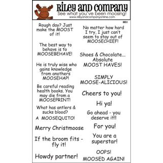 Riley Moose Sayings 1 Rubber Stamp Set