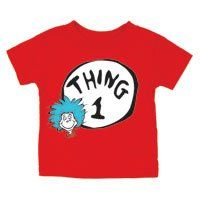 Dr. Seuss Thing 1 Red Juvenile T Shirt, 18 Months