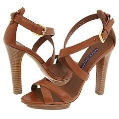 Ralph Lauren Collection Pasha Gold Calf Sandals
