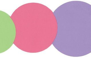 Circles Die Cut Wallpaper Border Pink, Purple, and Green in Kidding