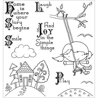Darcies Simple Joy Cling Mounted Rubber Stamps