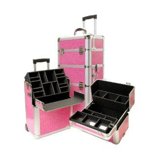 Deep Makeup Case w Telescopic Handle & Inline Skate Wheels