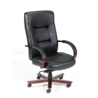 Boss High Back Italian Top Grain Leather Executive Chair Today $216