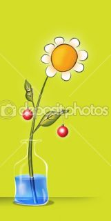 Cartoon Flower  Stock Photo © rastudio #1341404