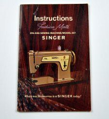Zig Zag Sewing Machine/Model 237 by Singer The Singer Company Books