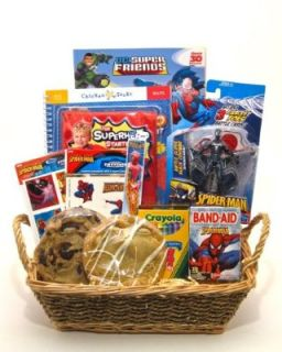 Kids Superhero Gift Basket   Makes a Great Birthday