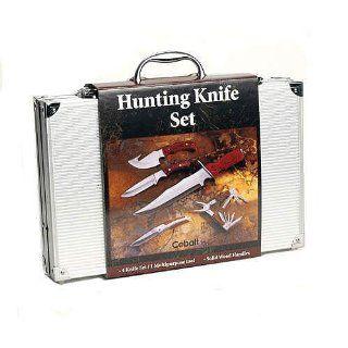 Cobalt 4pc Hunting Knife Set with Bonus Multi purpose Tool