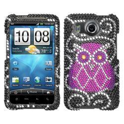 Premium HTC Inspire 4G Owl Rhinestone Case