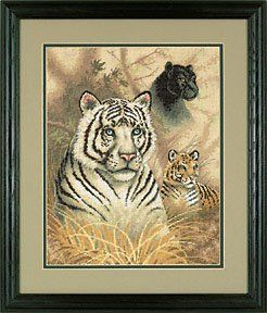 Gold Collection Eyes In The Wild Counted Cross Stitch Kit