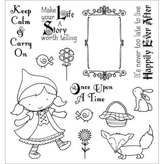 Darcies Little Red Cling Mounted Rubber Stamps