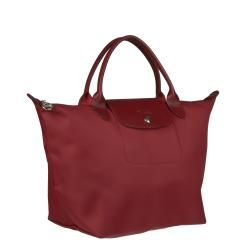 Longchamp Planetes Red Nylon Tote Bag
