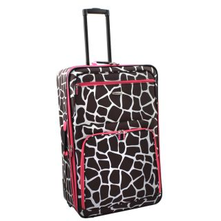 Rockland Pink Giraffe 24 inch Expandable Rolling Upright Luggage Today