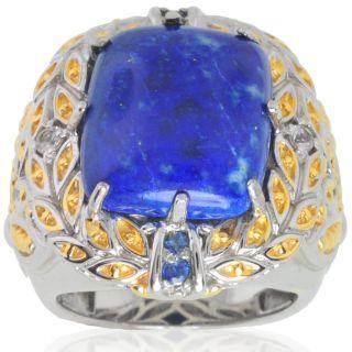 Michael Valitutti Sterling Silver Lapis Lazuli/ Sapphire Ring