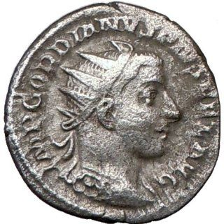 GORDIAN III 243AD Authentic Silver Genuine Ancient Roman Coin Nude SOL