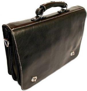 Floto Roma Black Messenger Bag   briefcase, attache