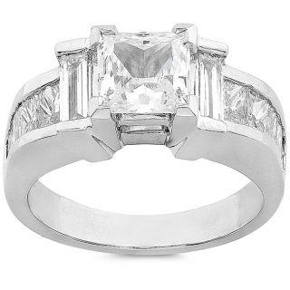 Platinum 2 1/2ct TDW Diamond Engagement Ring (G H, I1) (Size 6.5