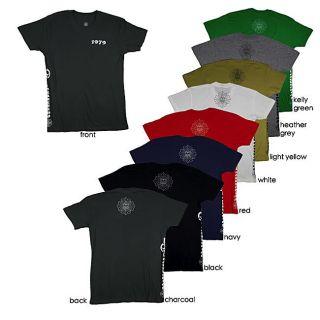 1979 Collection Mens Graphic Fleur de lis Cross Crewneck T shirt
