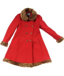 Rothschild Girls Faux Fur Trimmed Wool Look Dress Coat   2