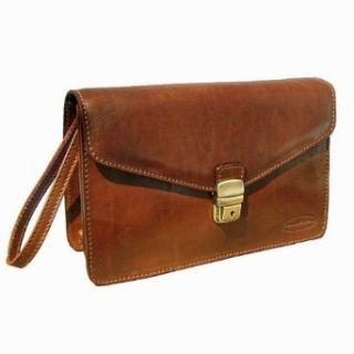 Scott Luxury Tan Mens Leather Wrist Bag (SantinoS)   Small Shoes
