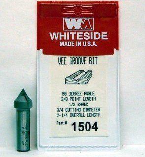 WHITESIDE MACHINE #1504 CARBIDE TIP 90 DEGREE V GROOVE ROUTER BIT W