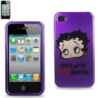 Betty Boop Fitted Snap On HARD Faceplate Protector Case Cover (latin