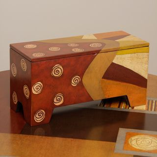 Isabel Wood Storage Chest (Peru)