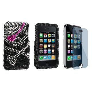 Skull Diamond Case Screen Protector for iPhone 3G
