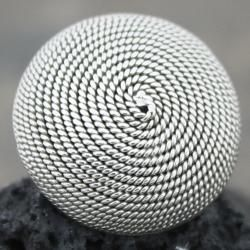 Sterling Silver Large Antiqued Rope Swirl Ring (Mexico)