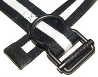Polo Ralph Lauren Mens Canvas Italy Belt Black White Small