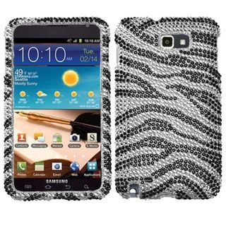 MYBAT Black/ Zebra Skin Diamante Case for Samsung© I717 Galaxy Note