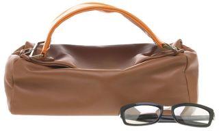 Prada Leather Brown/Orange Rectangle Purse