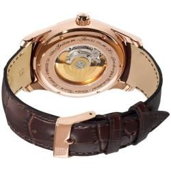 Frederique Constant Mens Clear Vision Automatic Leather Strap Watch