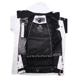 Sessions Mens Replay Black and White Snowboard Jacket