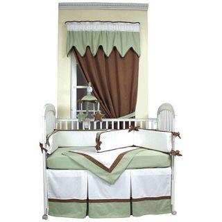 Hoohobbers 4 piece Classic Green Crib Bedding Set