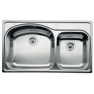 Blanco Stainless Steel Drop in 1 3/4 Bowl Kitchen Sink
