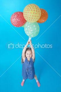 Girl holds balloons  Stock Photo © Oleksandr Kovalchuk #1372301