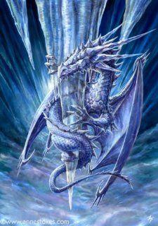 Cross Stitch Chart Ice Dragon Arts, Crafts & Sewing